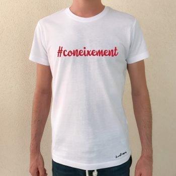 camiseta coneixement blanca chico