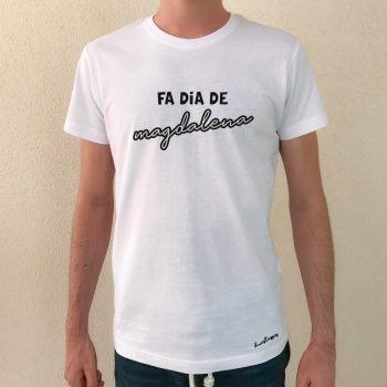 camiseta blanca chico fa dia de magdalena