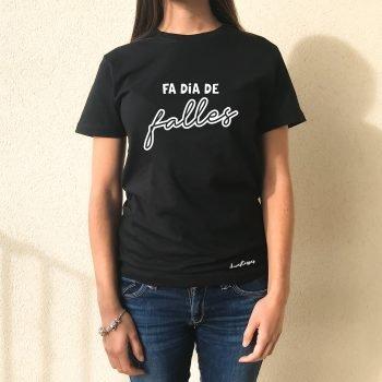 camiseta negra chica fa dia de falles