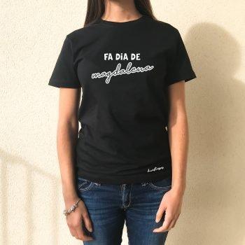 camiseta negra chica fa dia de magdalena